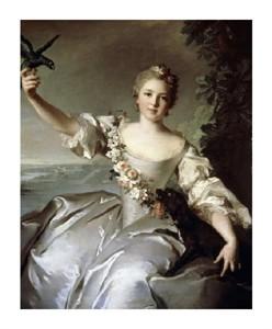 """Jean-Marc Nattier Fine Art Open Edition Giclée:""""Portrait of Marquise D'Antin"""""""