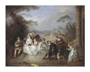 "Jean-Baptiste Pater Fine Art Open Edition Giclée:""Country Festival"""