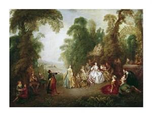 """Jean-Baptiste Pater Fine Art Open Edition Giclée:""""Dance"""""""