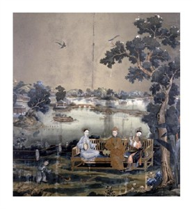 "Emperor Qianlong Fine Art Open Edition Gicl�e:""Mirror Painting"""