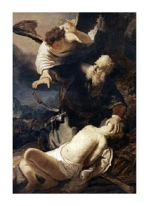 "Rembrandt Van Rijn Fine Art Open Edition Giclée:""Abraham and Isaac"""
