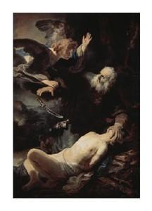 """Rembrandt Van Rijn Fine Art Open Edition Giclée:""""Abraham's Sacrifice"""""""