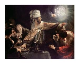"Rembrandt Van Rijn Fine Art Open Edition Giclée:""Belshazzar's Feast"""