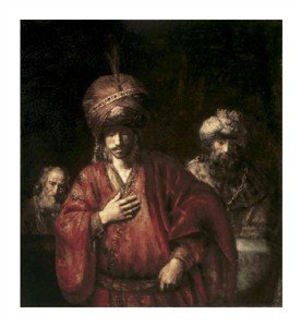 "Rembrandt Van Rijn Fine Art Open Edition Giclée:""David and Uriah"""