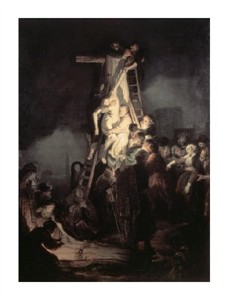 "Rembrandt Van Rijn Fine Art Open Edition Giclée:""Descent from the Cross"""
