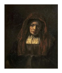 "Rembrandt Van Rijn Fine Art Open Edition Giclée:""Portrait of an Old Woman"""