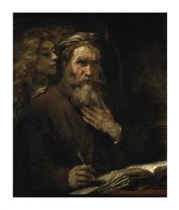 "Rembrandt Van Rijn Fine Art Open Edition Giclée:""Saint Matthew and the Angel"""