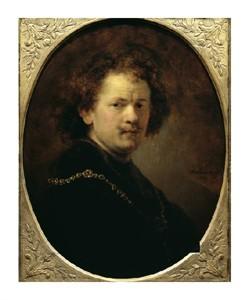"Rembrandt Van Rijn Fine Art Open Edition Giclée:""Self Portrait Bareheaded"""