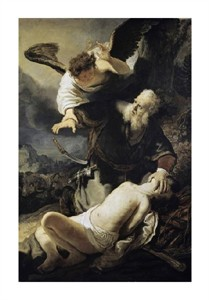 "Rembrandt Van Rijn Fine Art Open Edition Giclée:""The Sacrifice of Isaac"""