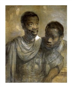 "Rembrandt Van Rijn Fine Art Open Edition Giclée:""Two Black Men"""