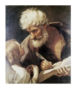 """Guido Reni Fine Art Open Edition Giclée:""""Saint Matthew"""""""