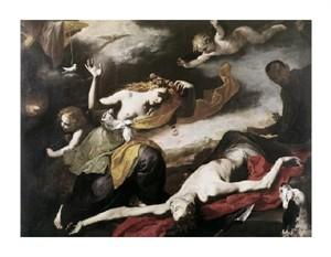 """Jusepe De Ribera Fine Art Open Edition Giclée:""""Death of Adonis"""""""