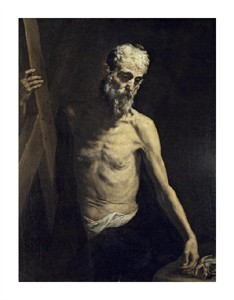 "Jusepe De Ribera Fine Art Open Edition Giclée:""Saint Andrew the Apostle"""