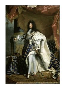 "Hyacinthe Rigaud Fine Art Open Edition Giclée:""Louis XIV, King of France """