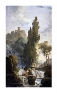 """Hubert Robert Fine Art Open Edition Giclée:""""Antique Temple"""""""