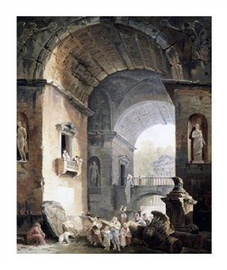"""Hubert Robert Fine Art Open Edition Giclée:""""Musicians"""""""