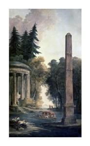 """Hubert Robert Fine Art Open Edition Giclée:""""Pavilion"""""""