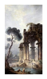 "Hubert Robert Fine Art Open Edition Giclée:""Ruins Near the Water"""