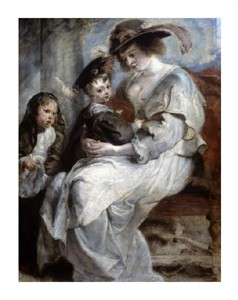 "Peter Paul Rubens Fine Art Open Edition Giclée:""Helena Fourment and Children"""