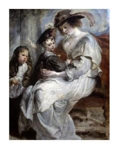 """Peter Paul Rubens Fine Art Open Edition Giclée:""""Helena Fourment and Children"""""""