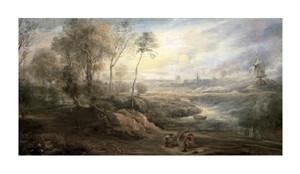 """Peter Paul Rubens Fine Art Open Edition Giclée:""""Landscape with a Bird-Catcher"""""""