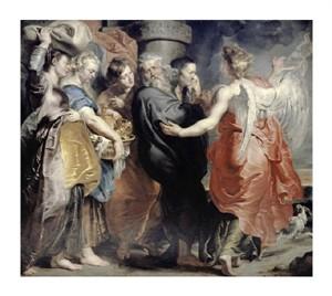 "Peter Paul Rubens Fine Art Open Edition Giclée:""Lot's Flight from Sodom"""