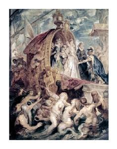 "Peter Paul Rubens Fine Art Open Edition Giclée:""Marie de Medici Arrives in Marseilles"""