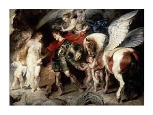 "Peter Paul Rubens Fine Art Open Edition Giclée:""Perseus Liberating Andromeda"""