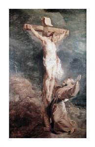 "Peter Paul Rubens Fine Art Open Edition Giclée:""Saint Francis Before the Crucified Christ"""