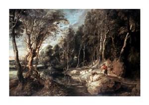 "Peter Paul Rubens Fine Art Open Edition Giclée:""Shepherd with His Flock"""