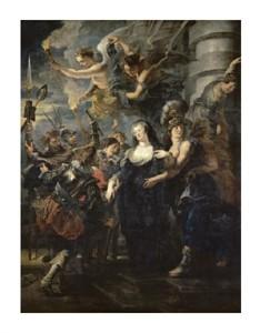 """Peter Paul Rubens Fine Art Open Edition Giclée:""""The Flight from Blois (Life of Marie de Medici, Queen of France)"""""""