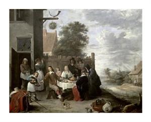 """Jan Steen Fine Art Open Edition Giclée:""""Family Meal"""""""