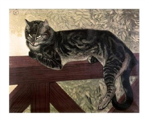 "Theophile Steinlen Fine Art Open Edition Giclée:""Cat on the Balustrade"""