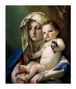 "Giovanni Battista Tiepolo Fine Art Open Edition Giclée:""Madonna of the Goldfinch"""