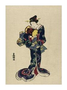 "Utagawa Toyokuni Fine Art Open Edition Giclée:""Kotsuzumi"""