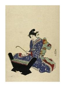 "Utagawa Toyokuni Fine Art Open Edition Giclée:""Mokkin - Wooden Xylophone"""