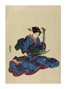 """Utagawa Toyokuni Fine Art Open Edition Giclée:""""Shamisen I"""""""