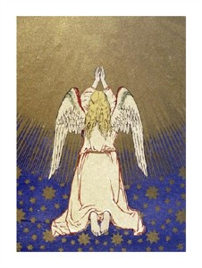 "Unknown Fine Art Open Edition Giclée:""Angel with Arms Raised to Heaven"""