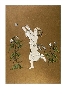 """Unknown Fine Art Open Edition Giclée:""""Child Chasing Butterfly"""""""
