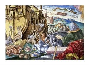 "Unknown Fine Art Open Edition Giclée:""Noah's Ark"""