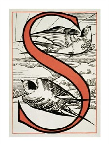 """Unknown Fine Art Open Edition Giclée:""""The Letter 'S' ( Is for Sparrow, Sun...)"""""""