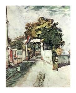 """Vincent Van Gogh Fine Art Open Edition Giclée:""""Entrance to the Moulin de La Galette"""""""