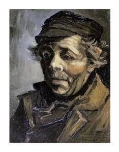 "Vincent Van Gogh Fine Art Open Edition Giclée:""Head of a Peasant with Cap"""
