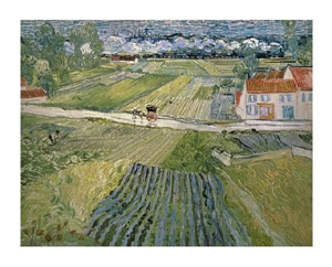 "Vincent Van Gogh Fine Art Open Edition Giclée:""Landscape with Carriage and Train"""