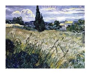 """Vincent Van Gogh Fine Art Open Edition Giclée:""""Landscape with Green Corn"""""""