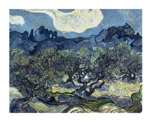 "Vincent Van Gogh Fine Art Open Edition Giclée:""Olive Trees with the Alpilles in the Background,Saint-Remy"""