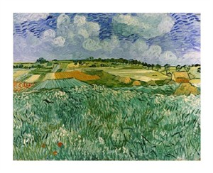 "Vincent Van Gogh Fine Art Open Edition Giclée:""Plain Near Auvers"""