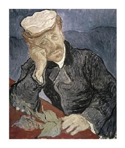 """Vincent Van Gogh Fine Art Open Edition Giclée:""""Portrait of Doctor Gachet"""""""