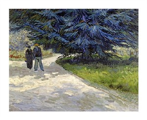"Vincent Van Gogh Fine Art Open Edition Giclée:""Public Garden with Couple and Blue Fir Tree"""