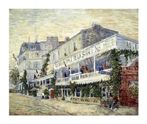"""Vincent Van Gogh Fine Art Open Edition Giclée:""""Restaurant de la Sirene at Asnieres 1887"""""""